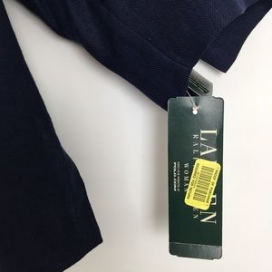 Lauren Ralph Lauren Tops - Lauren Ralph Lauren 100% Linen Button Up Top Navy